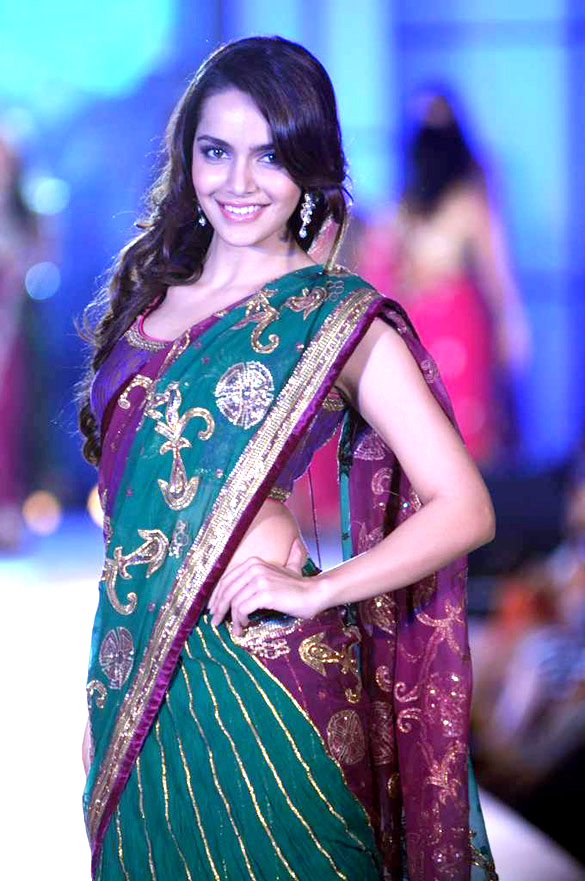 Shazahn Padamsee Hot Images In Saree