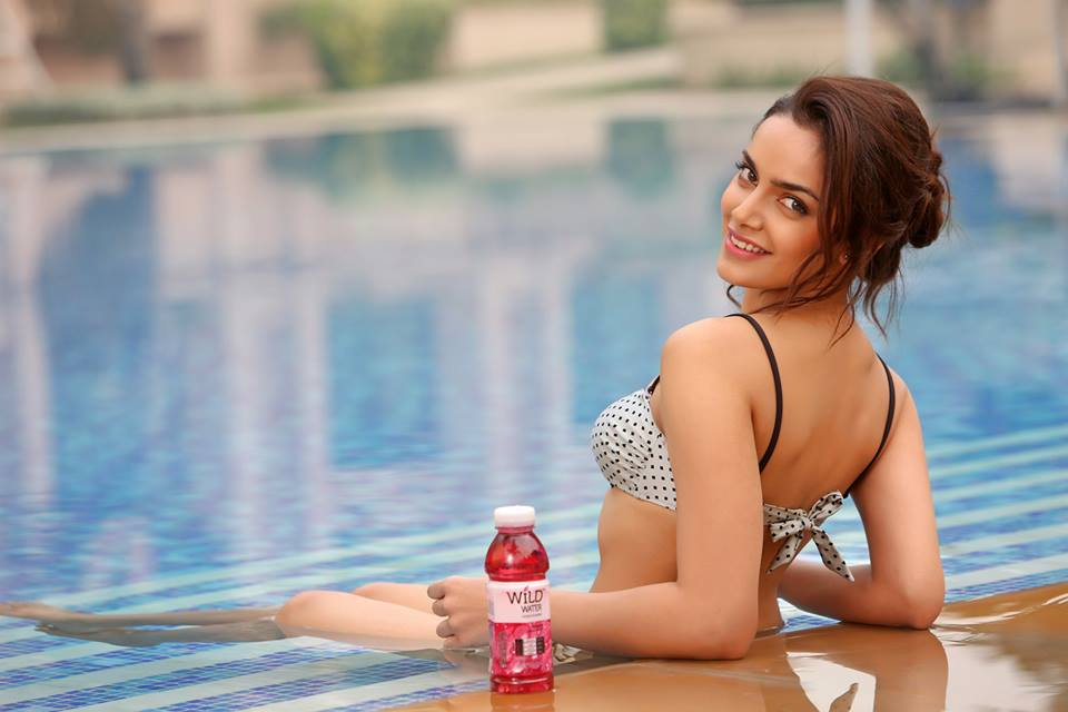 Shazahn Padamsee Hot In Bikini Photoshoot In Swimming Pool