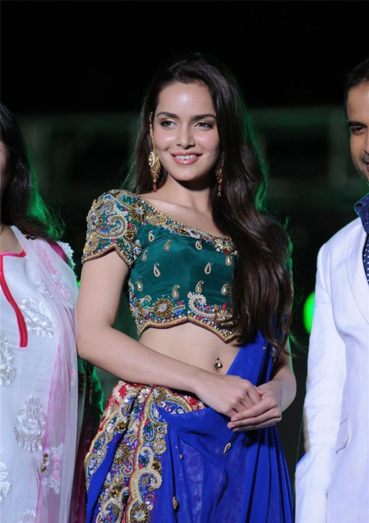 Shazahn Padamsee Lovely Pictures In Gagra Choli