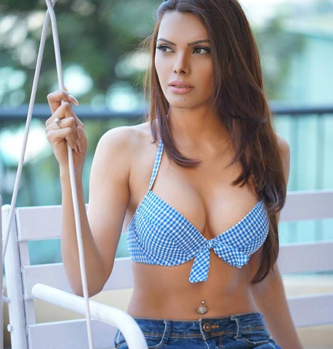 Sherlyn Chopra Hot Images In Bra Panty