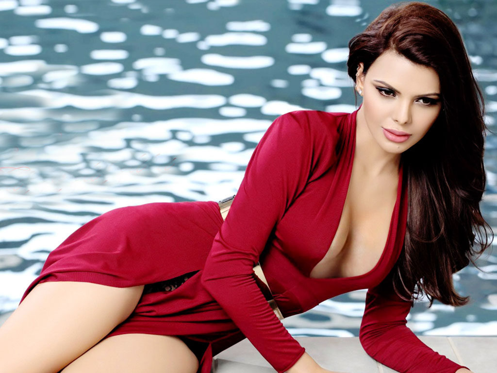 Sherlyn Chopra Spicy Navel Showing Pics In Swimsuit