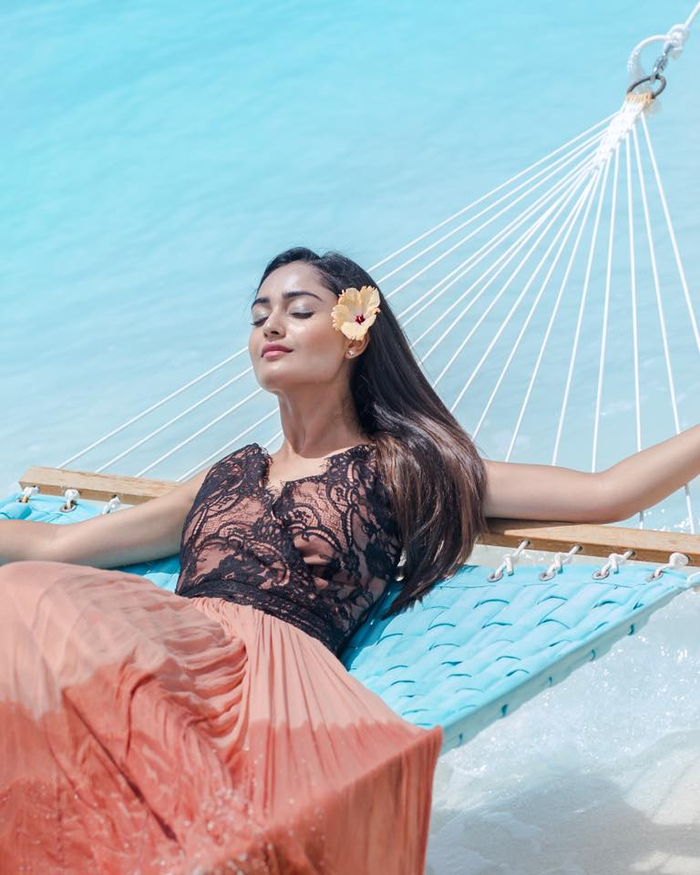 Tridha Choudhury Very Hot Pictures At Beach