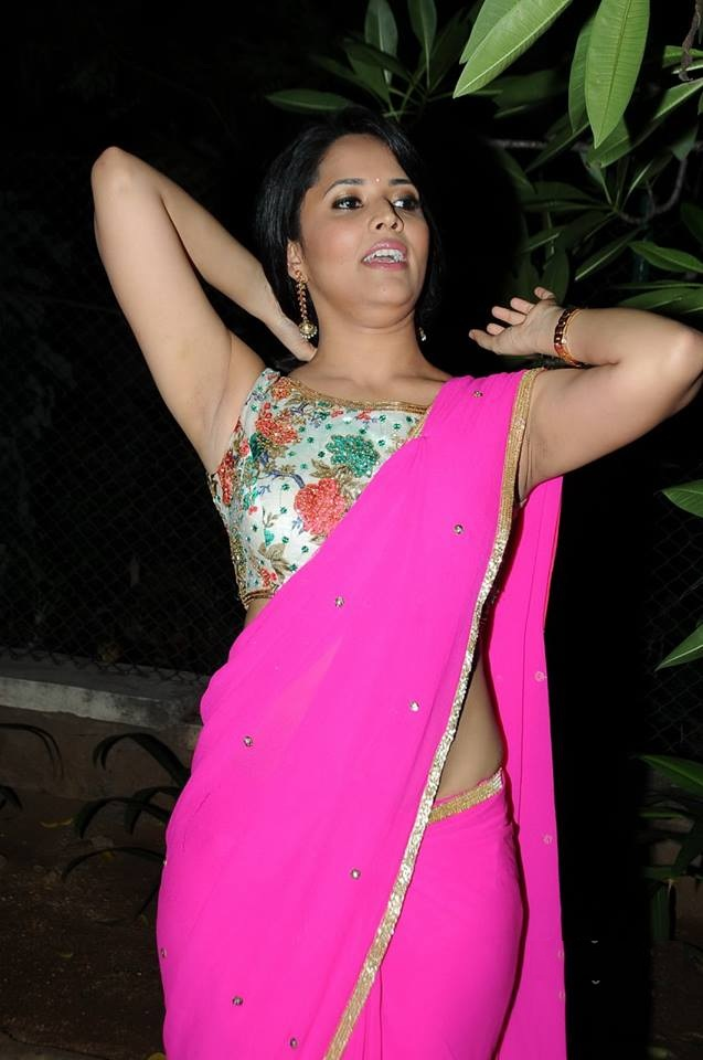 Anasuya Bharadwaj Hot Photos In Saree
