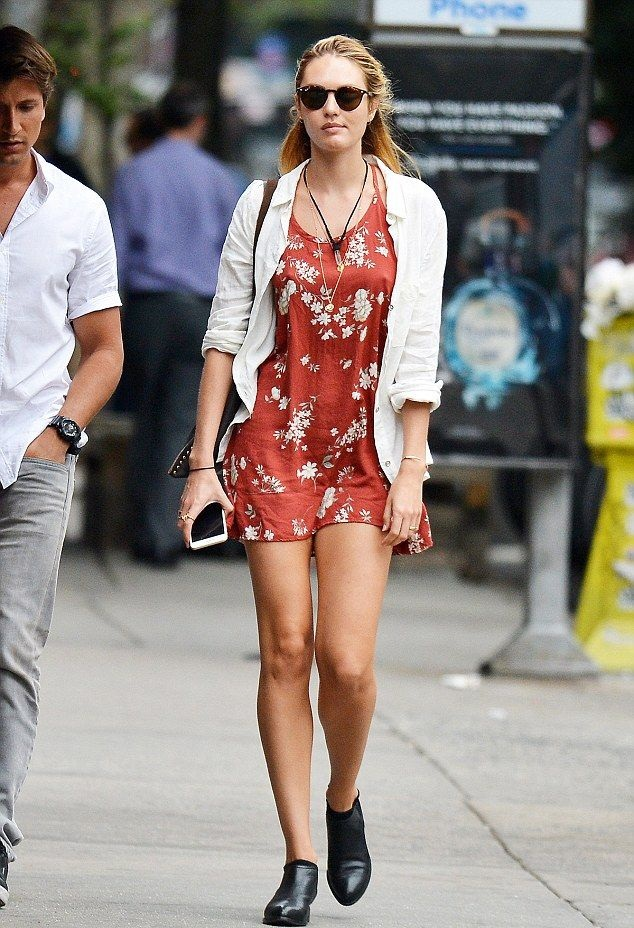 Candice Swanepoel Photos In Short Dress
