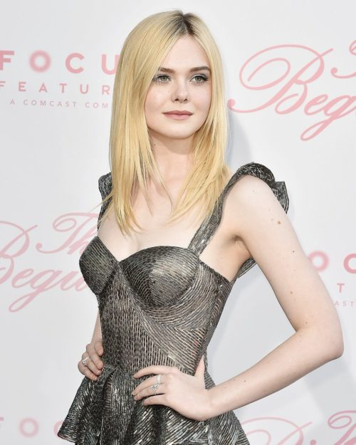 Elle Fanning New Hair Style Pics At Event