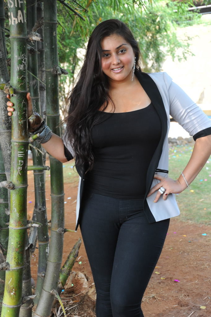 Namitha Hot & Sexy Pictures In Jeans Top