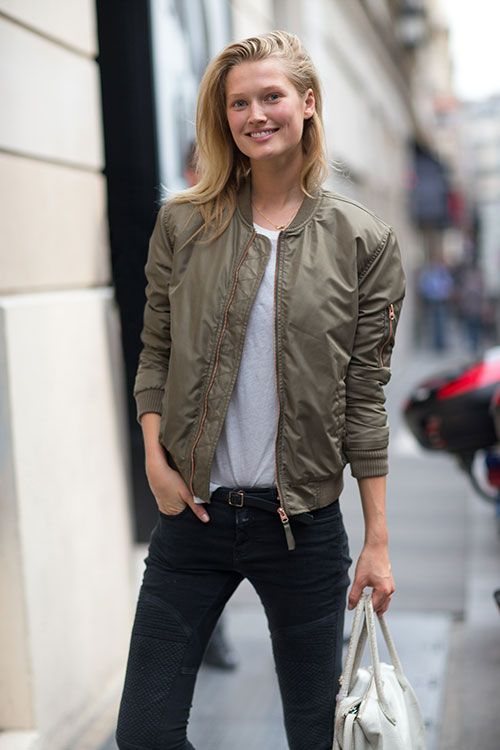 Toni Garrn Images In Jeans Top