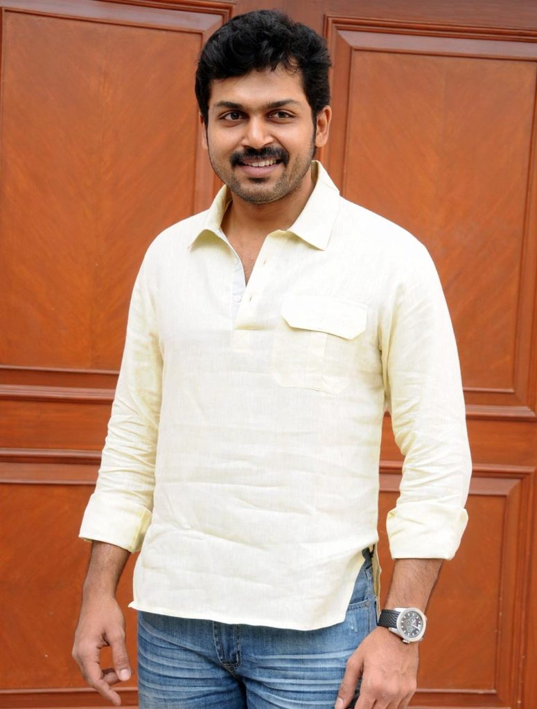 Karthi New Hair Style HD Images