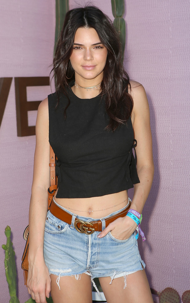 Kendall Jenner Sexy Navel Pics