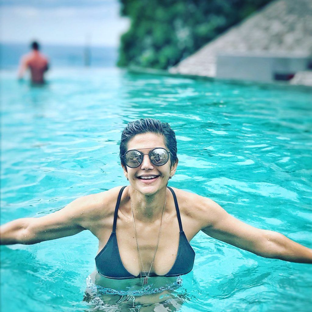 Mandira Bedi Hot Pics In Swimsuit