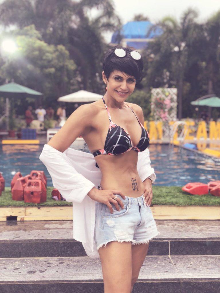 Mandira Bedi Sexy Pics In Undergarments