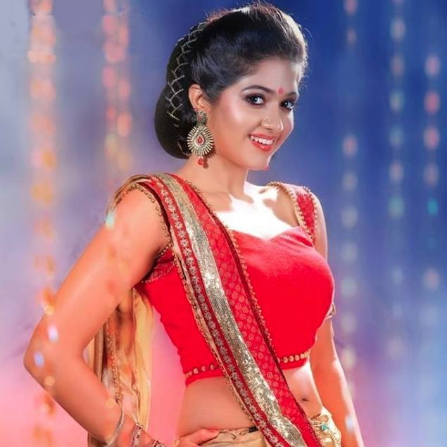 Meghana Raj Cute Pics In Bra