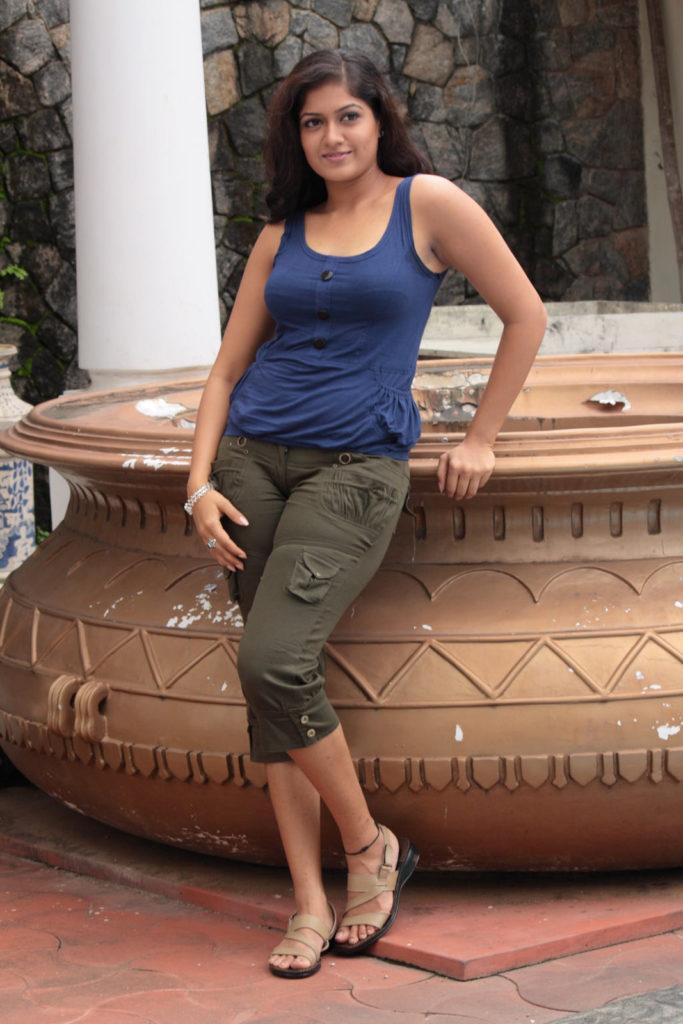 Meghana Raj Hot Images In Jeans Top