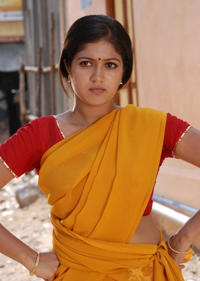 Meghana Raj Hot Pics In Saree