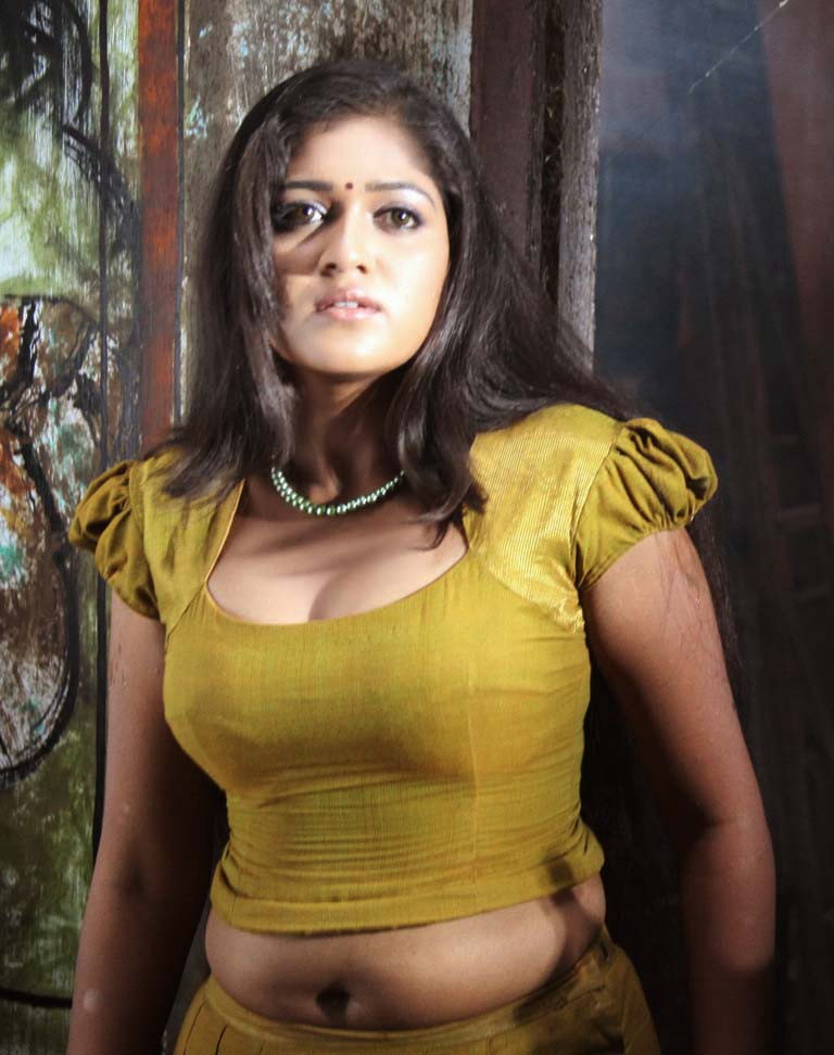 Meghana Raj Spicy Navel Pics In Bra