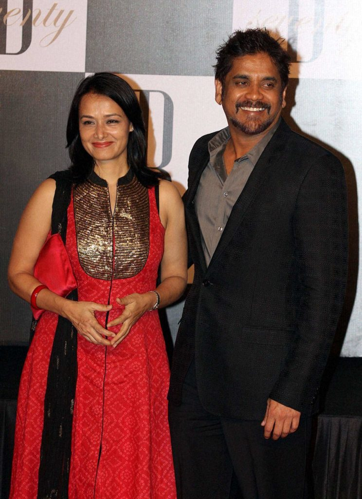 Nagarjuna HD Pics With Wife