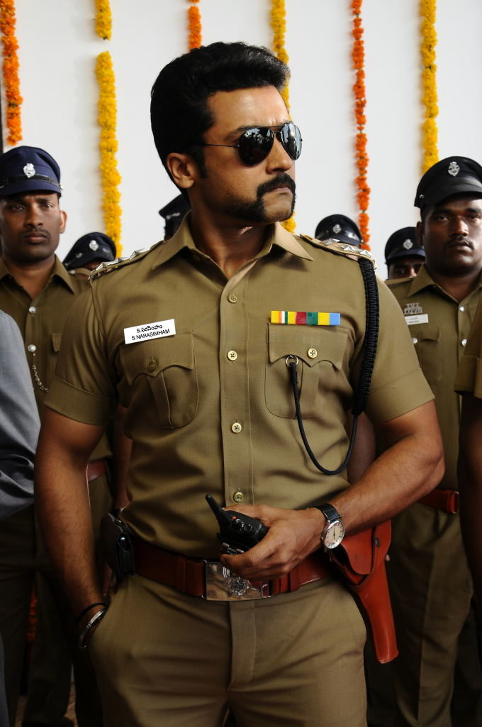 Suriya HD Pics In Police Clothes