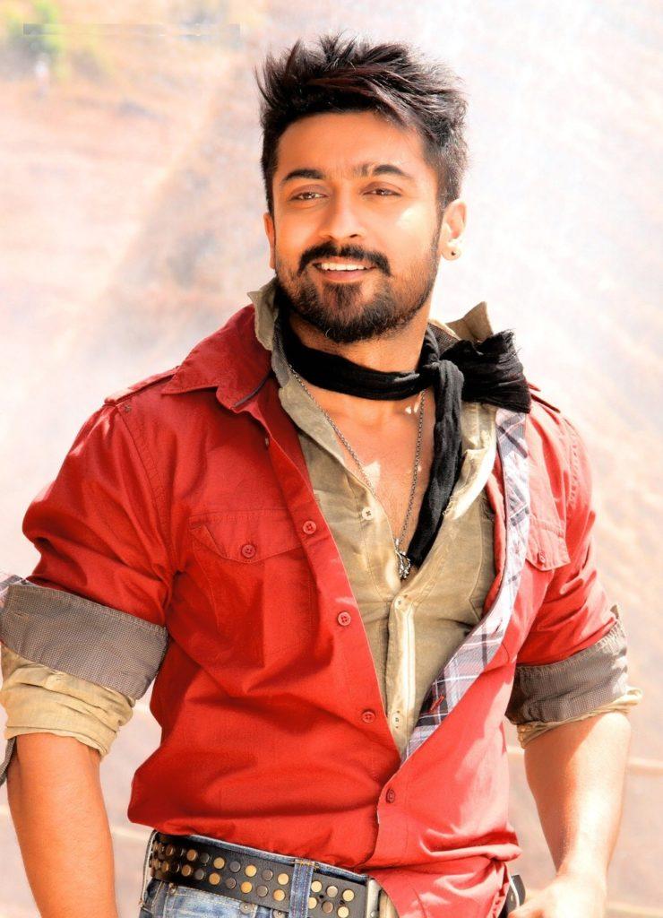 Suriya HD Wallapers In Red Shart