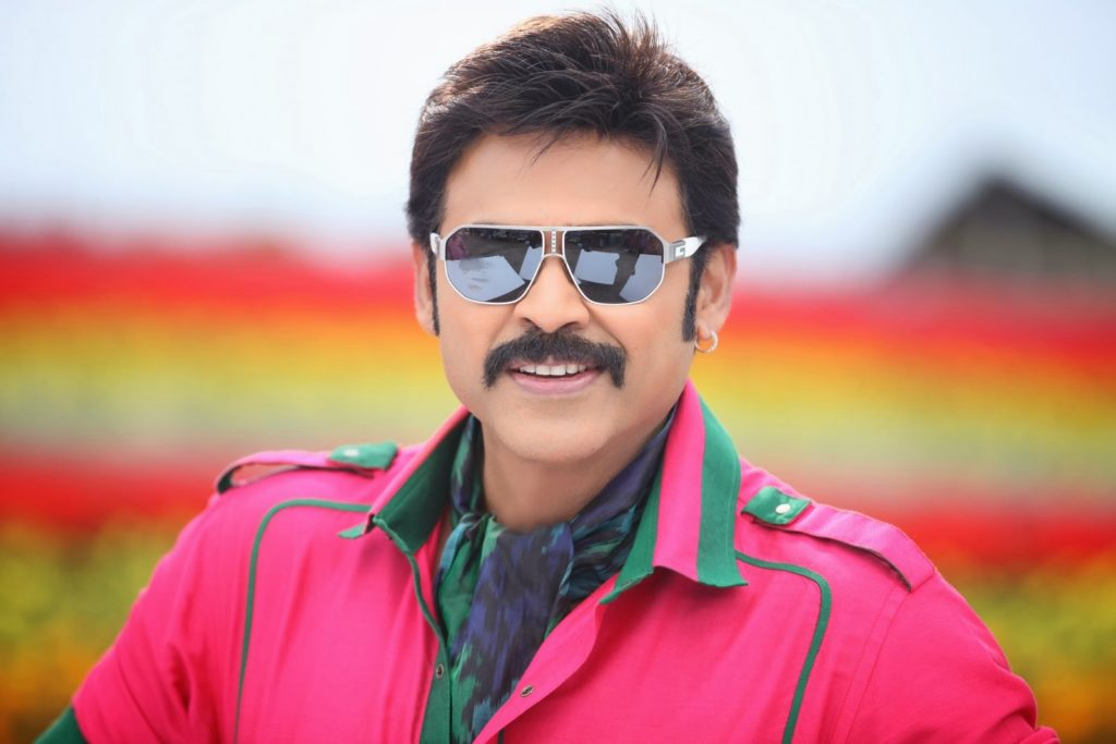 Venkatesh HD Pics In Pink Clothes