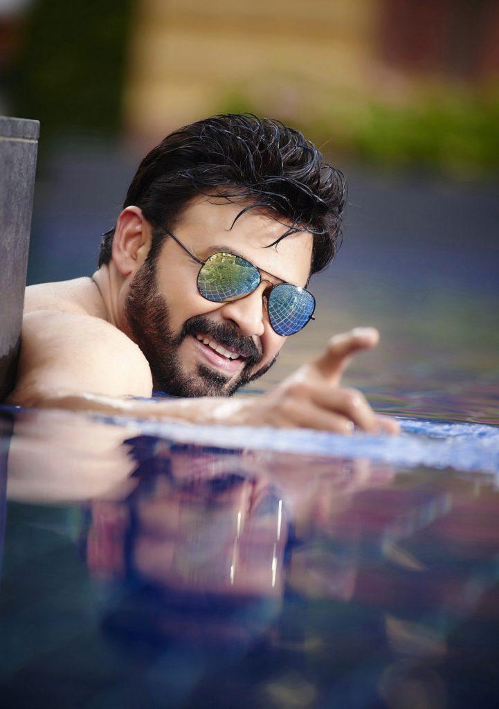 Venkatesh HD Pics In Swiming Pool