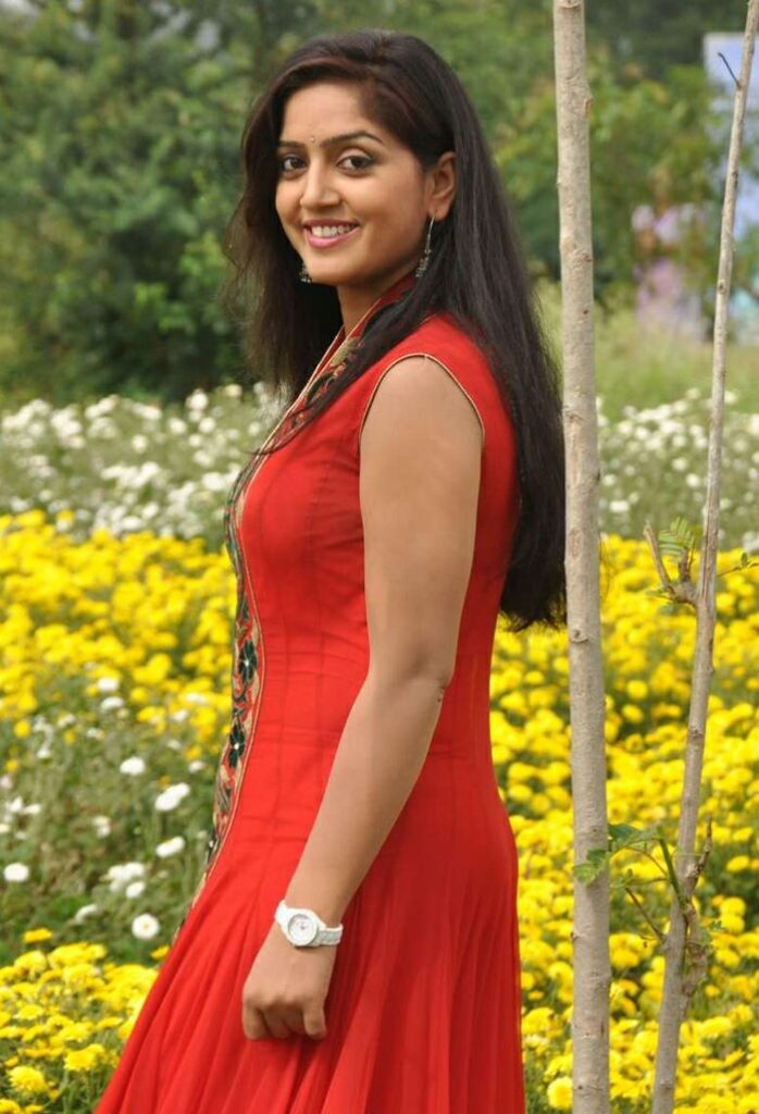 Divya Singh In Red Clothes