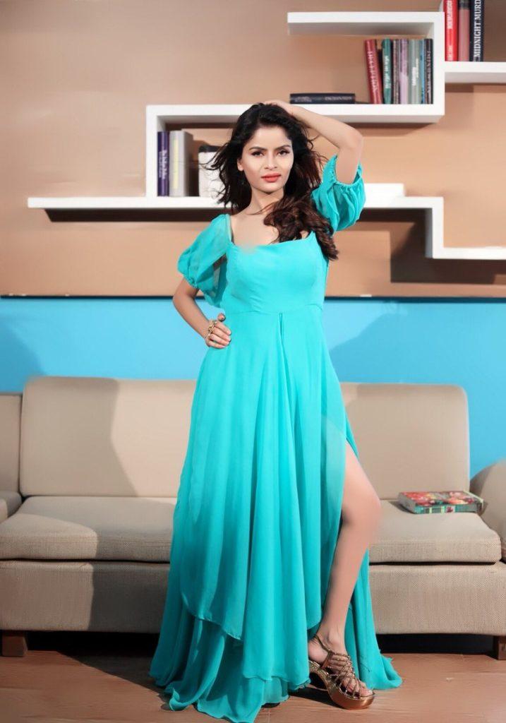 Gehana Vasisth In Blue Clothes