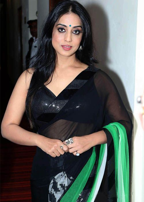 Mahi Gill Hot Pics In Black Saree