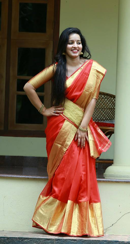 Malavika Menon In Saree Photos