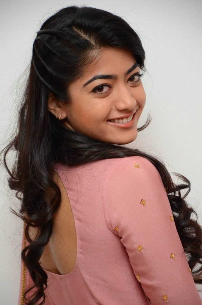 Rashmika Mandanna In Backless Clothes Photos