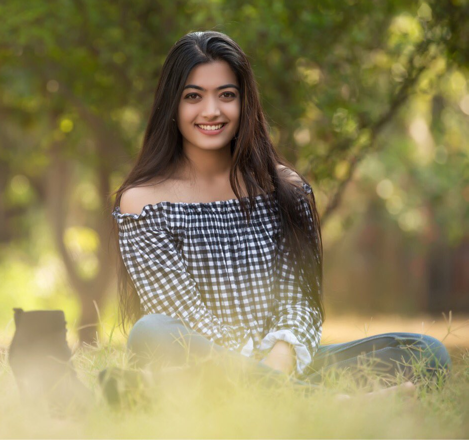 Rashmika Mandanna In Garden Bold Images
