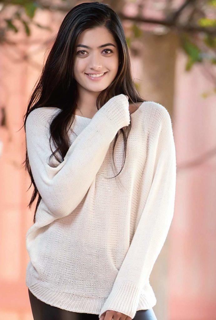 Rashmika Mandanna In Jeans Top Hot Images