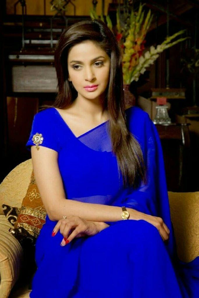 Saba Qamar In Saree Photos