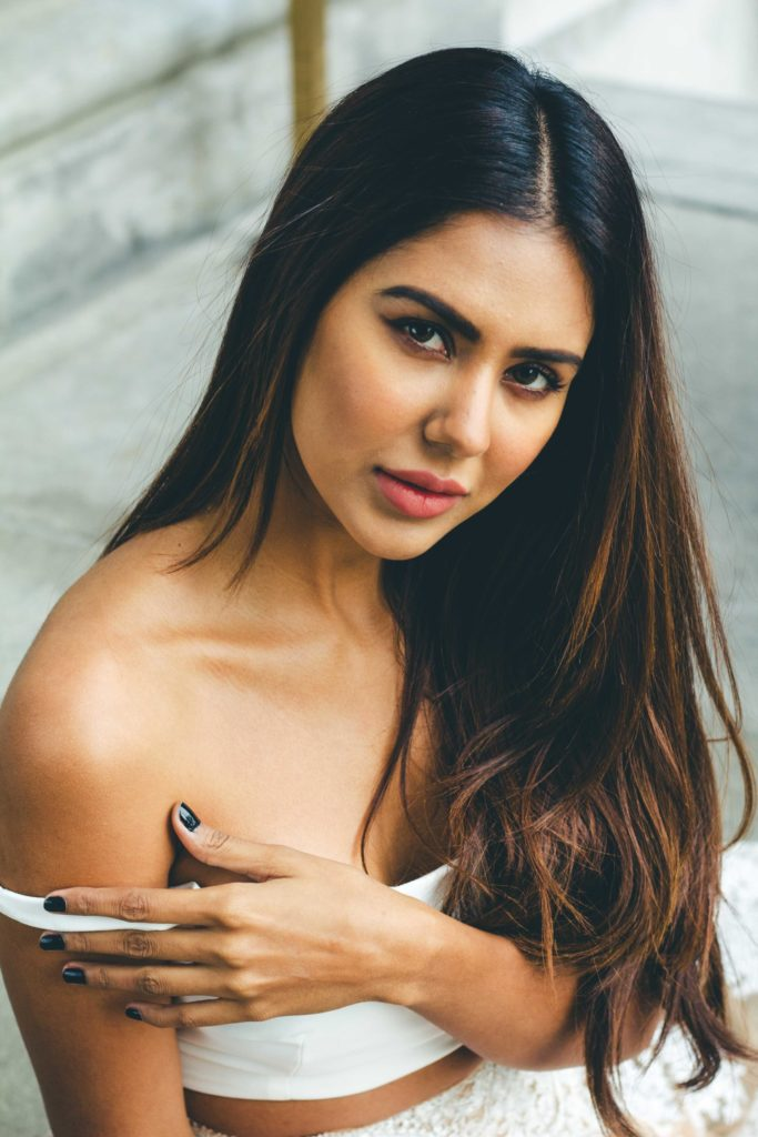 Sonam Bajwa Hot In Offsholder Clothes