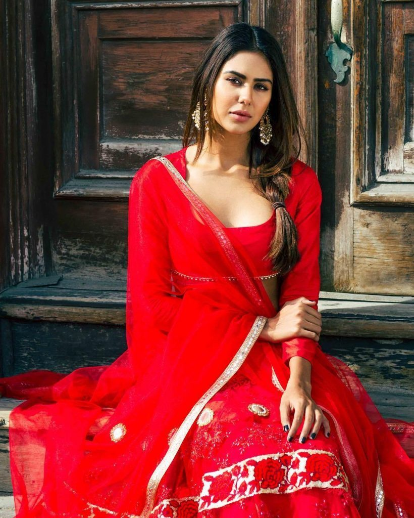 Sonam Bajwa Hot Pics In Red Clothes