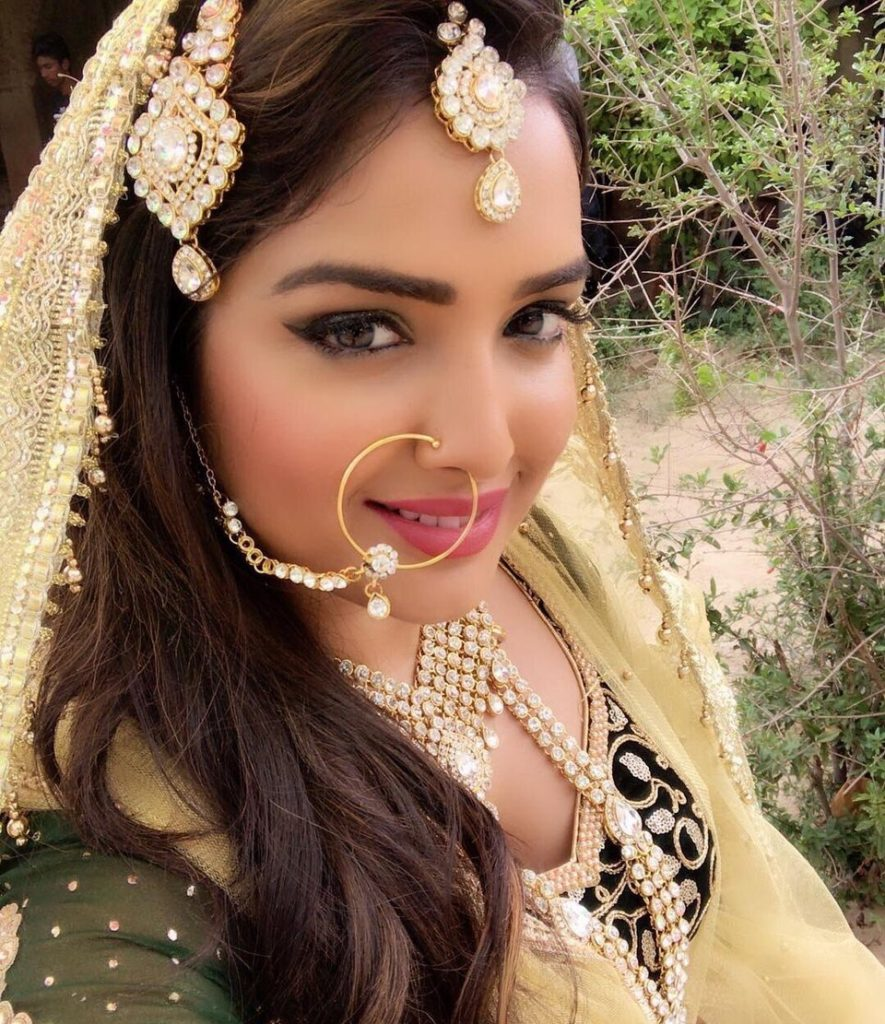 Amrapali Dubey In Dulhan Look Images