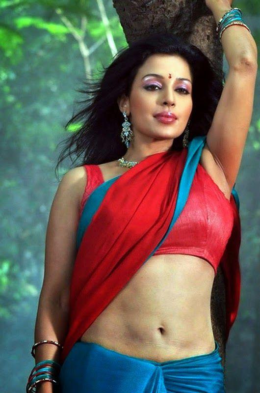 Asha Saini Navel Pics In Red Bra