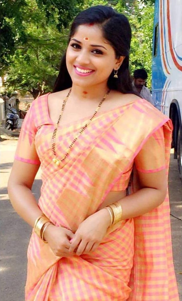 Chandini Sreedharan In Saree Pics