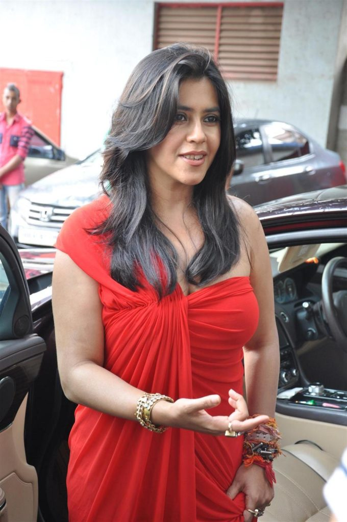 Ekta Kapoor New Images In Red Clothes