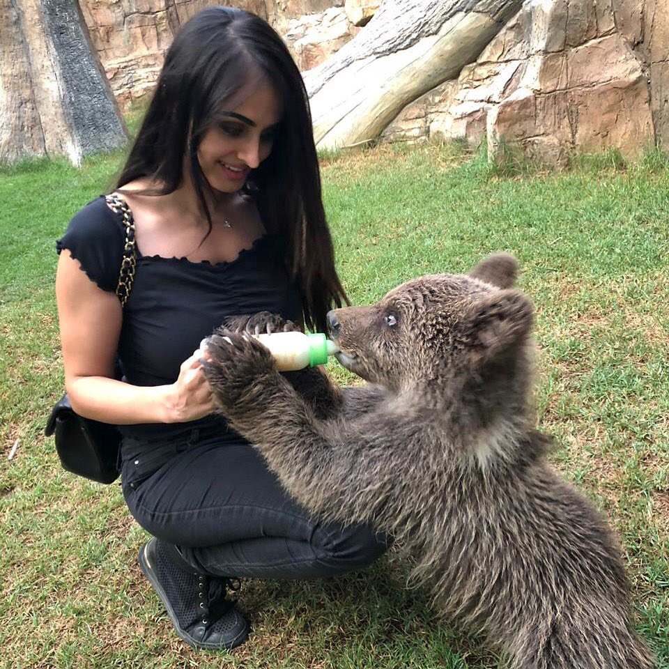 Lana Rose HD Pics With Baby Bear