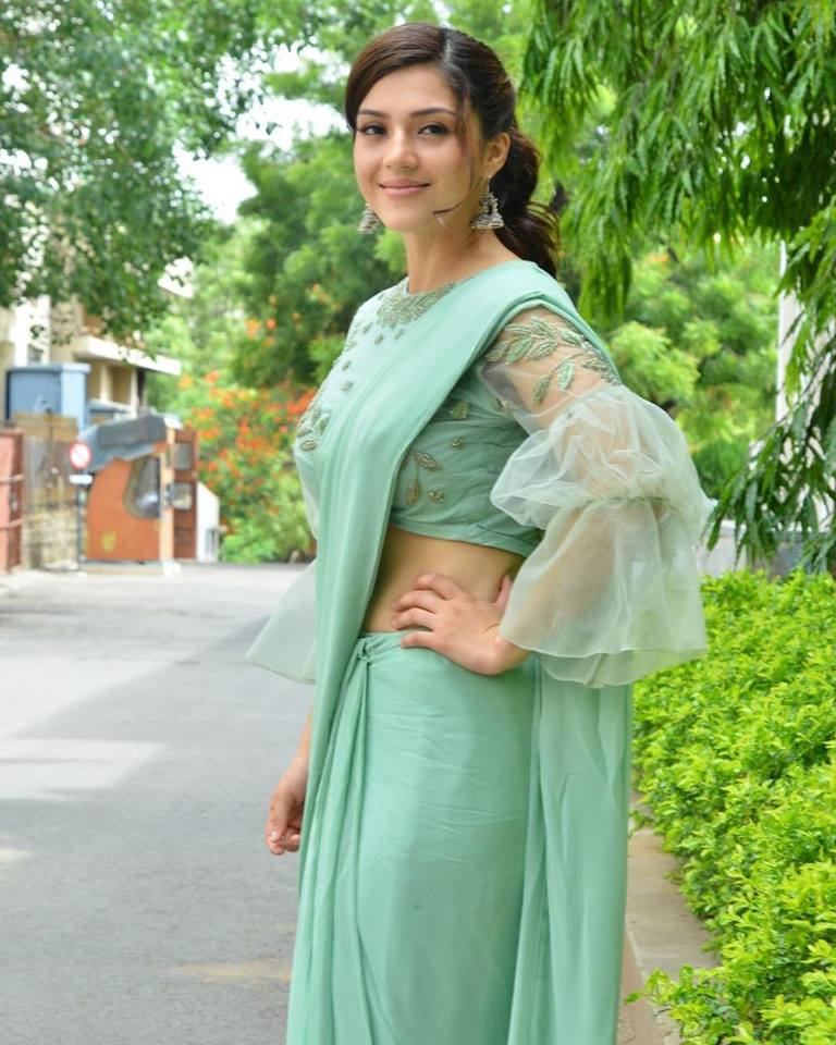 Mehreen Pirzada Navel Pics In Saree