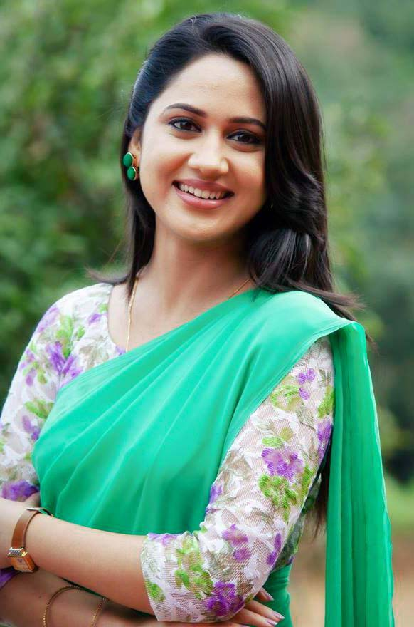 Miya George In Saree New Images