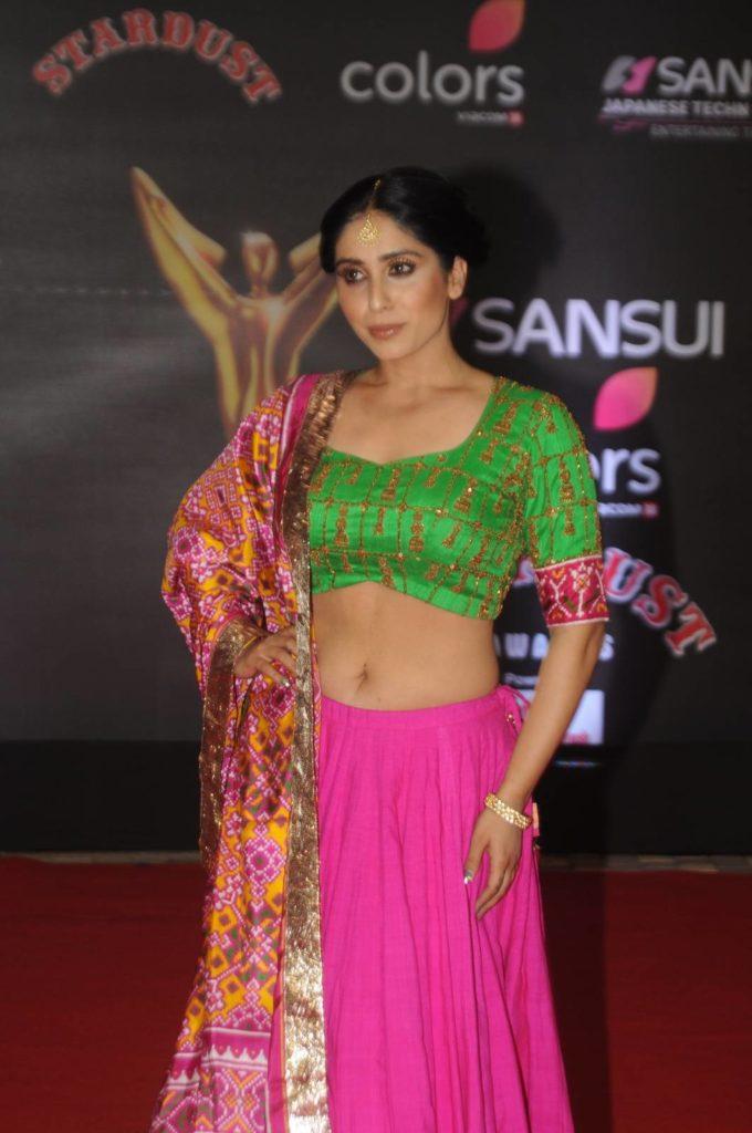 Neha Bhasin Navel Pics In Gagra Choli At Event