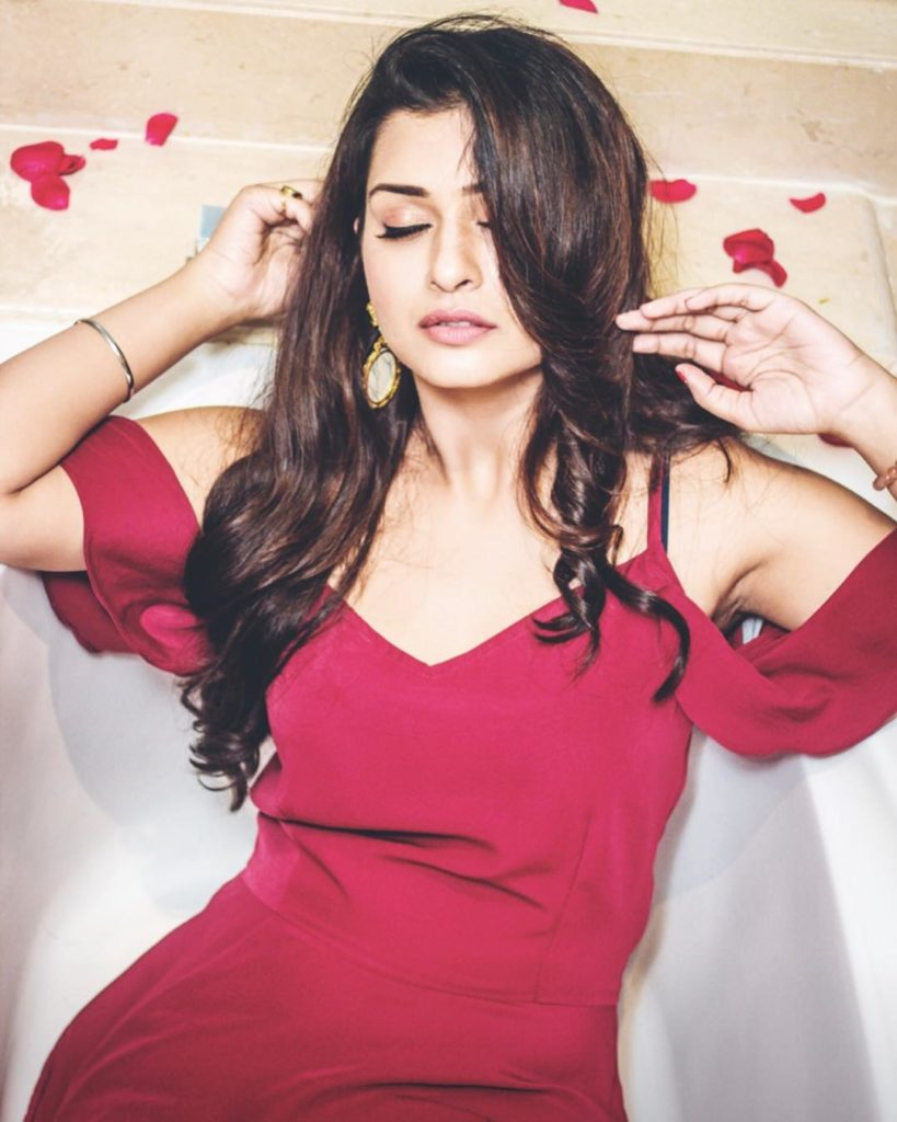 Payal Rajput In Red Clothes