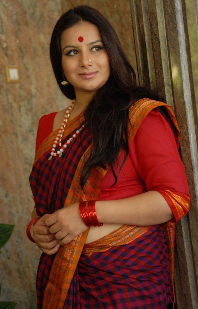 Pooja Gandhi In Saree Hot Photos