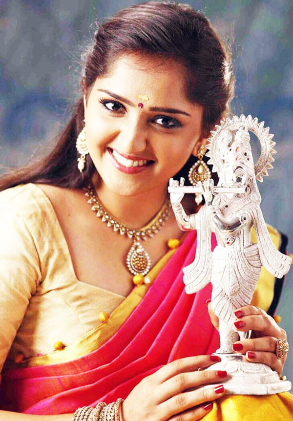 Sanusha With Lord Krishna Photos