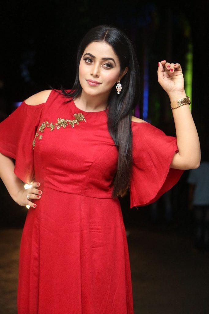 Shamna Kasim In Red Clothes Photos
