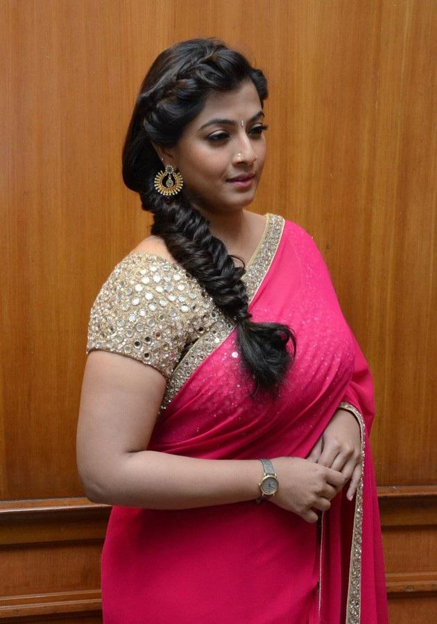 Varalakshmi In Pink Saree Photos