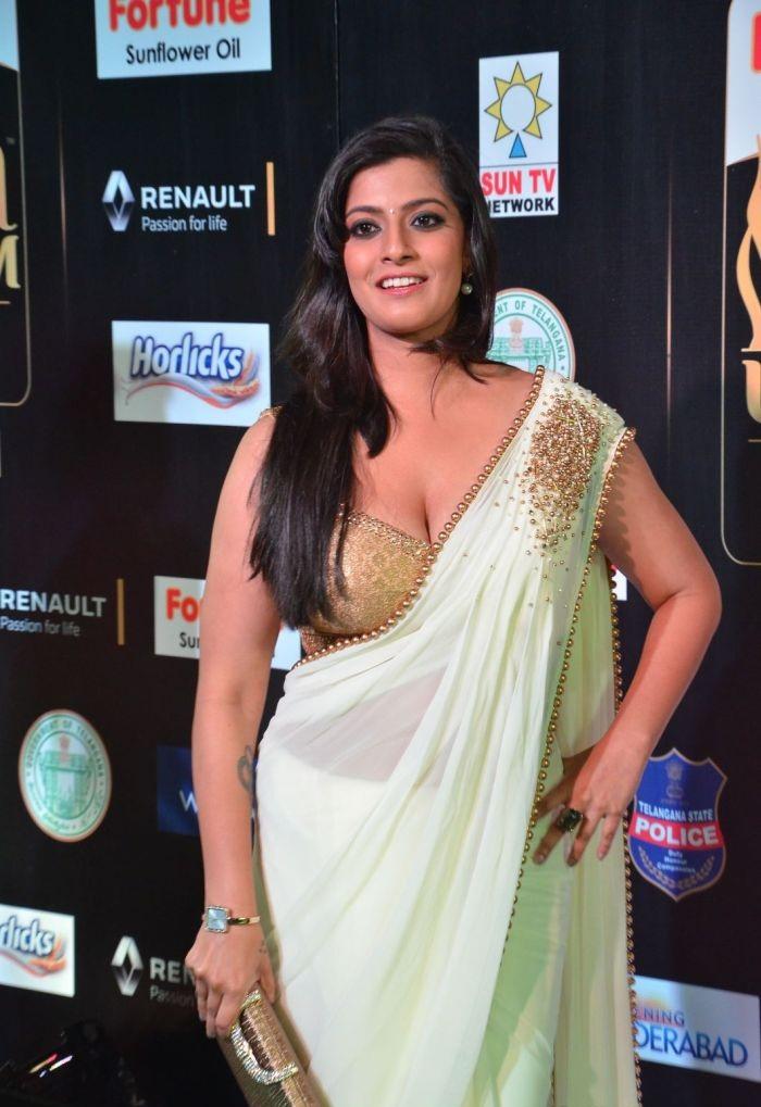 Varalakshmi In Saree Photos At Event