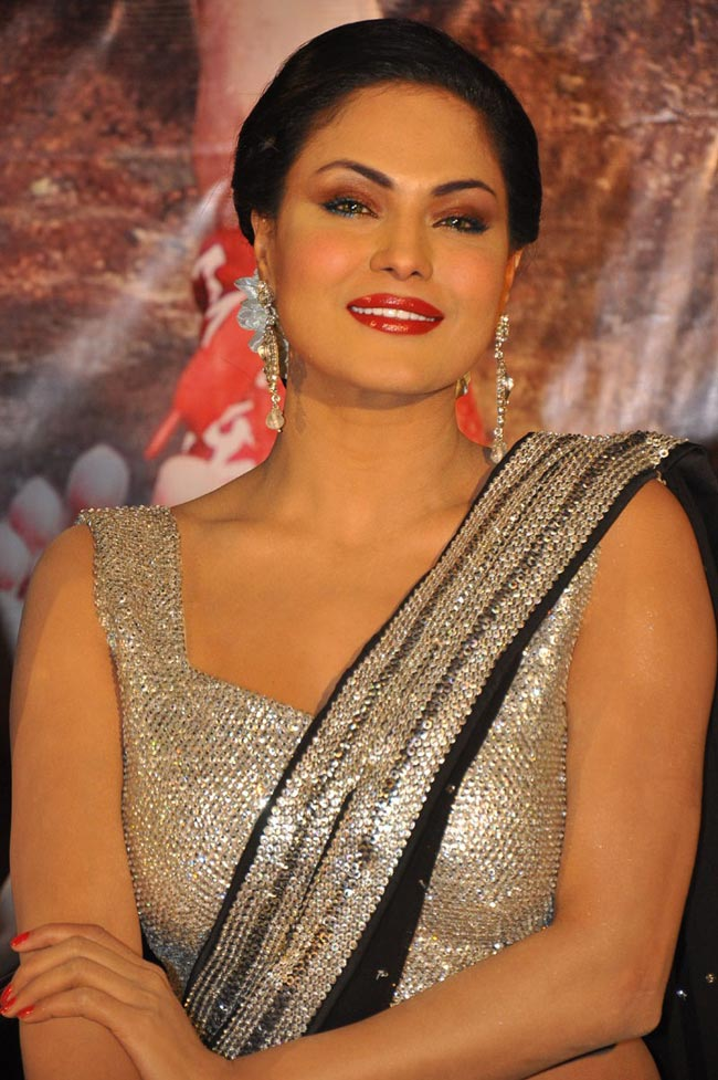 Veena Malik Hot Images In Saree