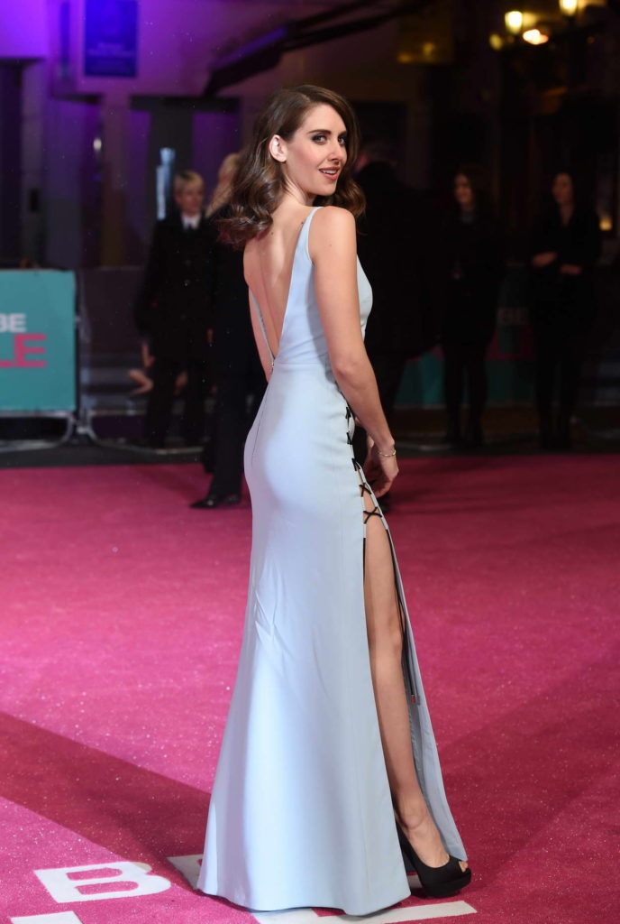 Alison Brie Backless Photos At Red Carept